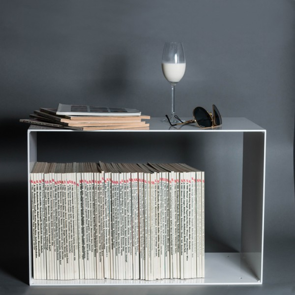 Stahlregal | Regal aus 4mm dickem Stahl | Weiss |Hifi | Bauhaus | Lasercut