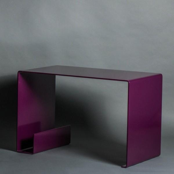 Couchtisch | 6 mm gebogenem Stahl | lila | Beistelltisch | Tisch | Bauhaus | Moderne