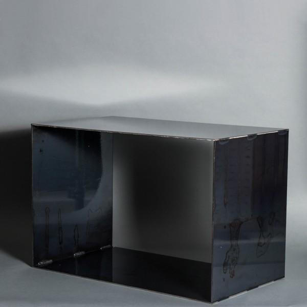 Stahlregal | Klarlack | Regal aus 4mm dickem Stahl mit Strucktur |Hifi | Industrie Design | Lasercu