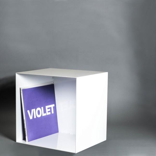 Stahlregal | 4mm Stahl | Weiss |Schallplattenregal | Industrie Design | Lasercut